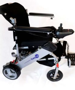 side angle picture Easyfold portable power wheelchair standard model