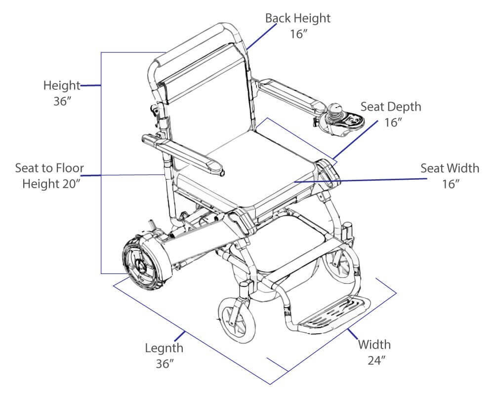 Full Specification Details Of Easyfold Lightweight Power Wheelchair