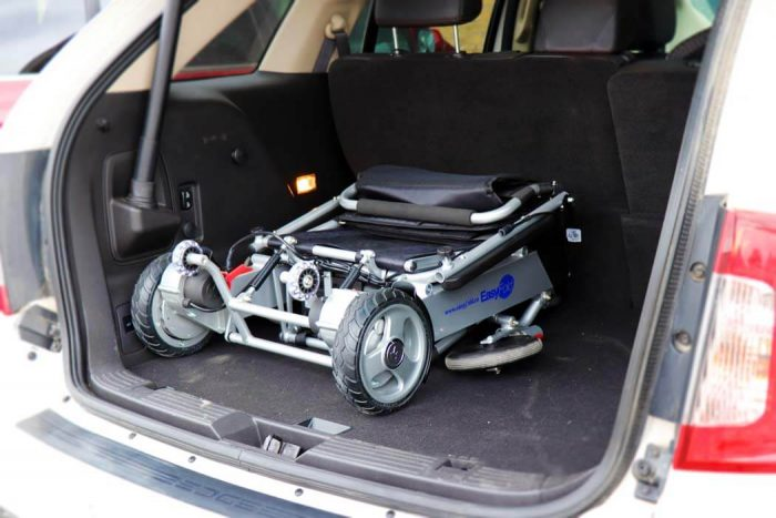 Standard Model Electric Wheelchair in the car trunk