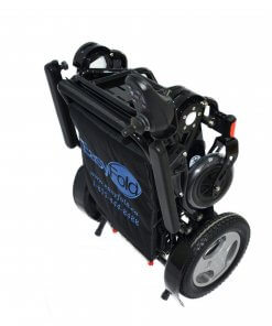 Folded EasyFold Elite portable wheelchair
