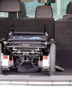 car trunk with easyfold portable power wheelchair elite model