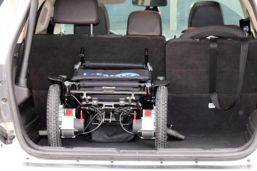 car trunk with easyfold portable power wheelchair elite model