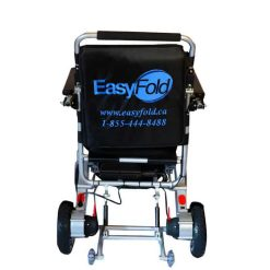 Backview of EasyFold standard portable wheelchair