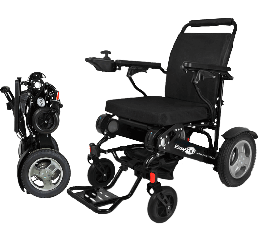 Full view elite model easyfold portable power wheelchair