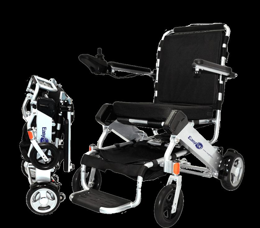Full view standard model easyfold portable power wheelchair