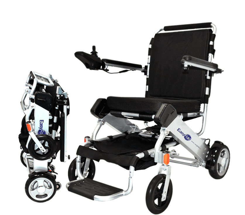 Full view standard model easyfold portable power wheelchair