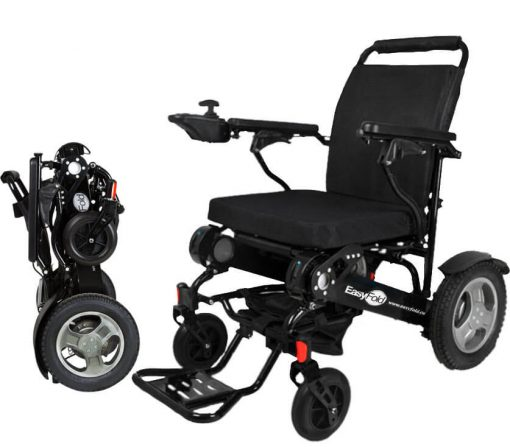 Elite Model EasyFold Portable Power Electric Wheelchair complete view