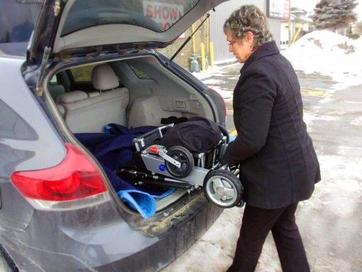 Folded EasyFold Standard in the car trunk