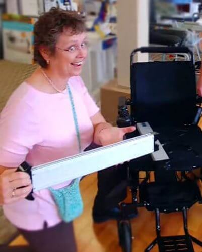 EasyFold Elite Portable wheelchair battery