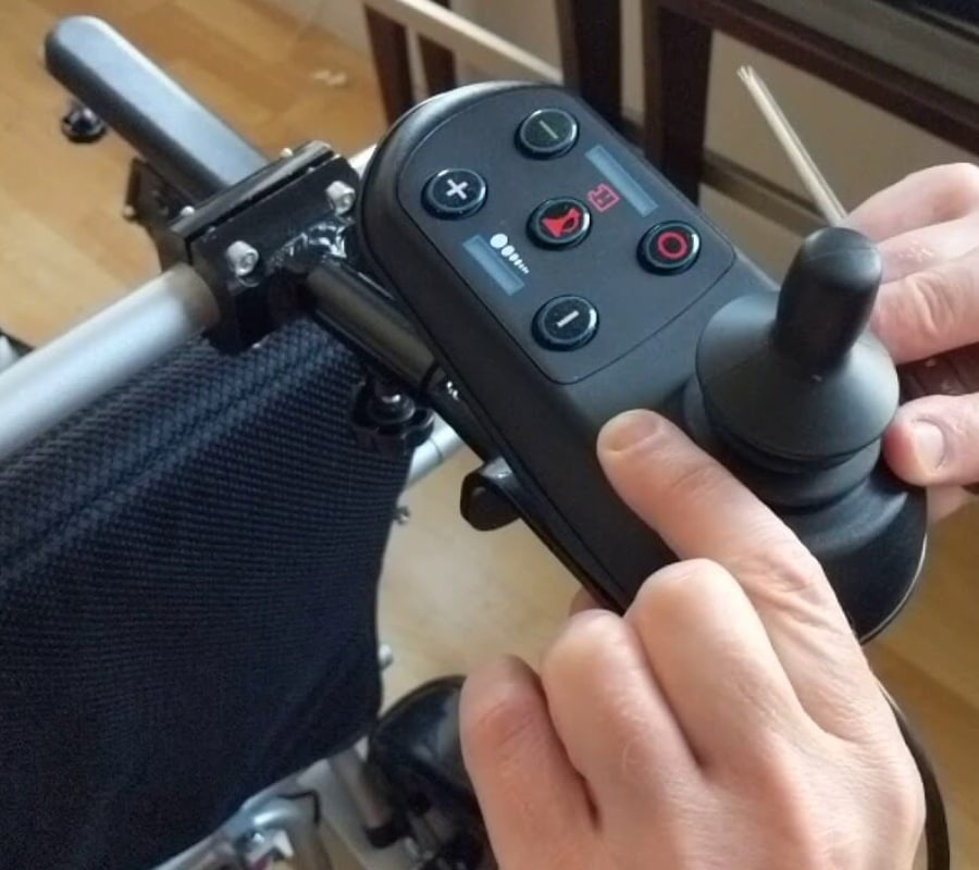 Wheelchair controller bracket