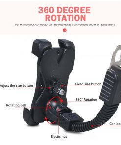 Phone holder with 360 degree mount