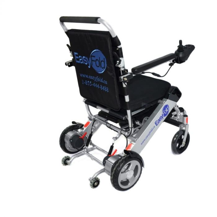 EasyFold standard model electric wheelchair back view