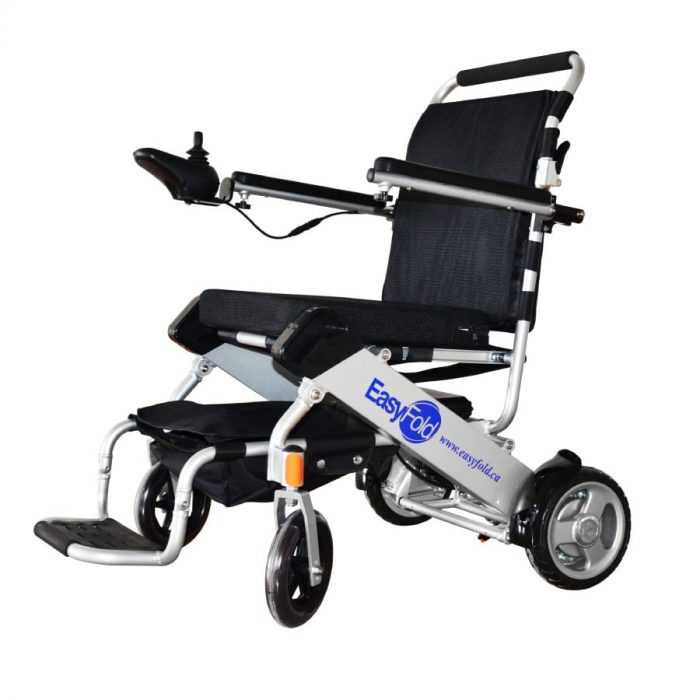 EasyFold standard model electric wheelchair side view