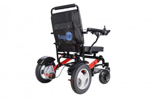 sideview of EasyFold PRO portable wheelchair