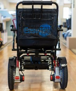 Collapsible Shopping Basket fitted on a easyfold powerchair
