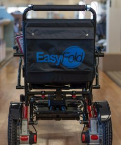 Electric Powerchair Small LED lights attached to a easyfold powerchair