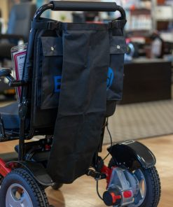 Mobility Wheelchair Oxygen Tank Holder fitted to easyfold powerchair